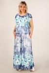 Платье Анджелина-2 джинс-цветы голубые