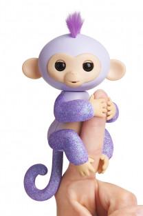 Интерактивная  обезьянка  КИКИ  (светло пурпурная), 12 см