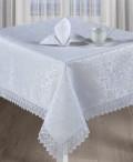 Набор столового белья Ирен ажур (белый) 200х150см + салфетка