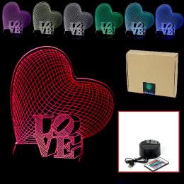 """USB-3D светильник на пульте управления, """"Сердце"""""""