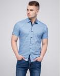 Молодежная рубашка Semco голубая брендовая модель 20433 1506