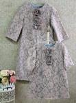 Платье кружевное на шерстяной основе