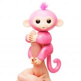 Интерактивная  обезьянка  РОЗА  (розовая), 12 см