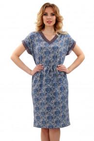 Домашняя Туника-платье 52-02