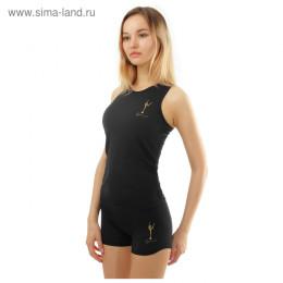 Майка-борцовка гимнастическая Winner Gold, 32 р-р