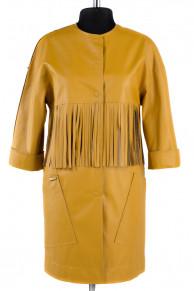 12-0089 Пальто облегченное Эко-кожа Желтый