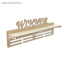 """Медальница с полкой """"Winner"""", 45х16,5см"""
