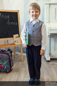 Костюм-двойка школьный для мальчика: жилет+брюки. Распродажа