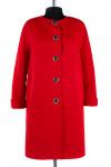 12-0011 Пальто облегченное Жаккард Красный