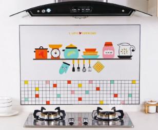 Наклейка жироотталкивающая над плитой Кухня