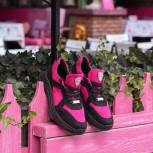 Женские замшевые кроссовки (текстиль/экомех - на выбор)