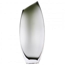 Декоративная ваза из дымчатого стекла, Д160 Ш60 В400, серый