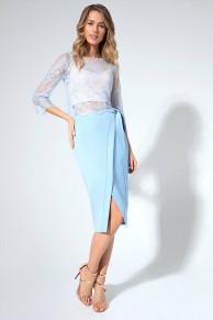 блуза, топ, юбка LaVeLa Артикул: L2387 голубой