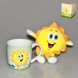 IM05-0400 Кружка с игрушкой 300 мл. Солнышко