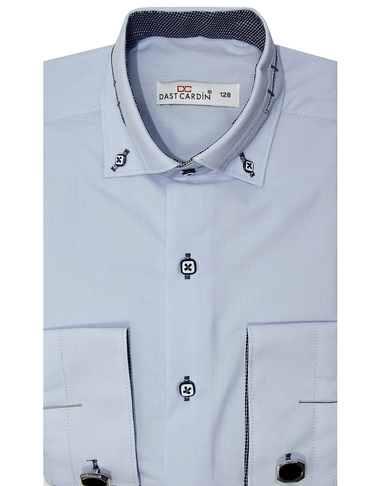 Рубашка для мальчика, Dast cardin, бледно-голубая