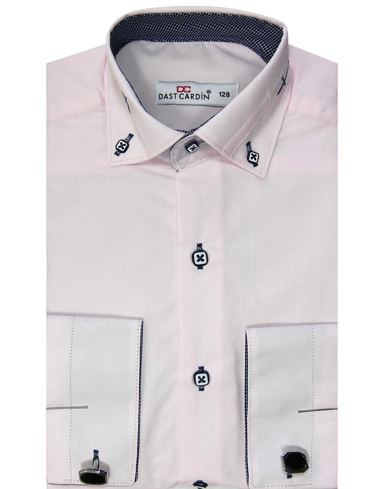 Рубашка для мальчика, Dast cardin, бледно-розовая