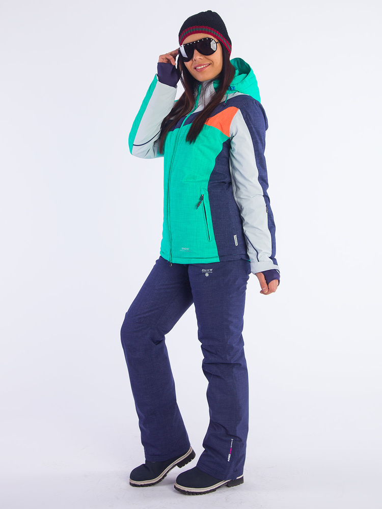 Горнолыжный костюм Snow Headquarter B-8688, Сине-зелёный