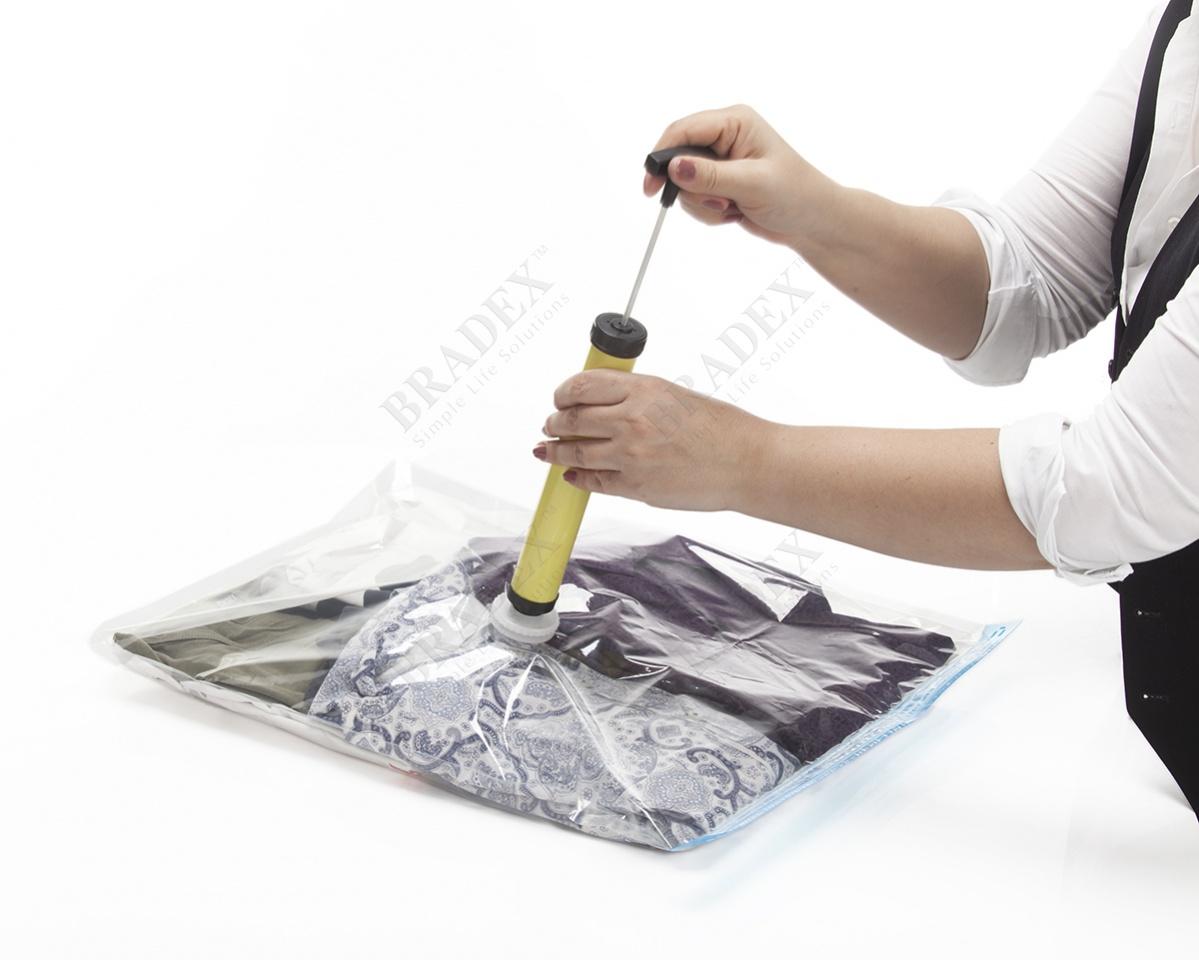 Набор вакуумных пакетов для хранения с насосом «СПЭЙС МАСТЕР
