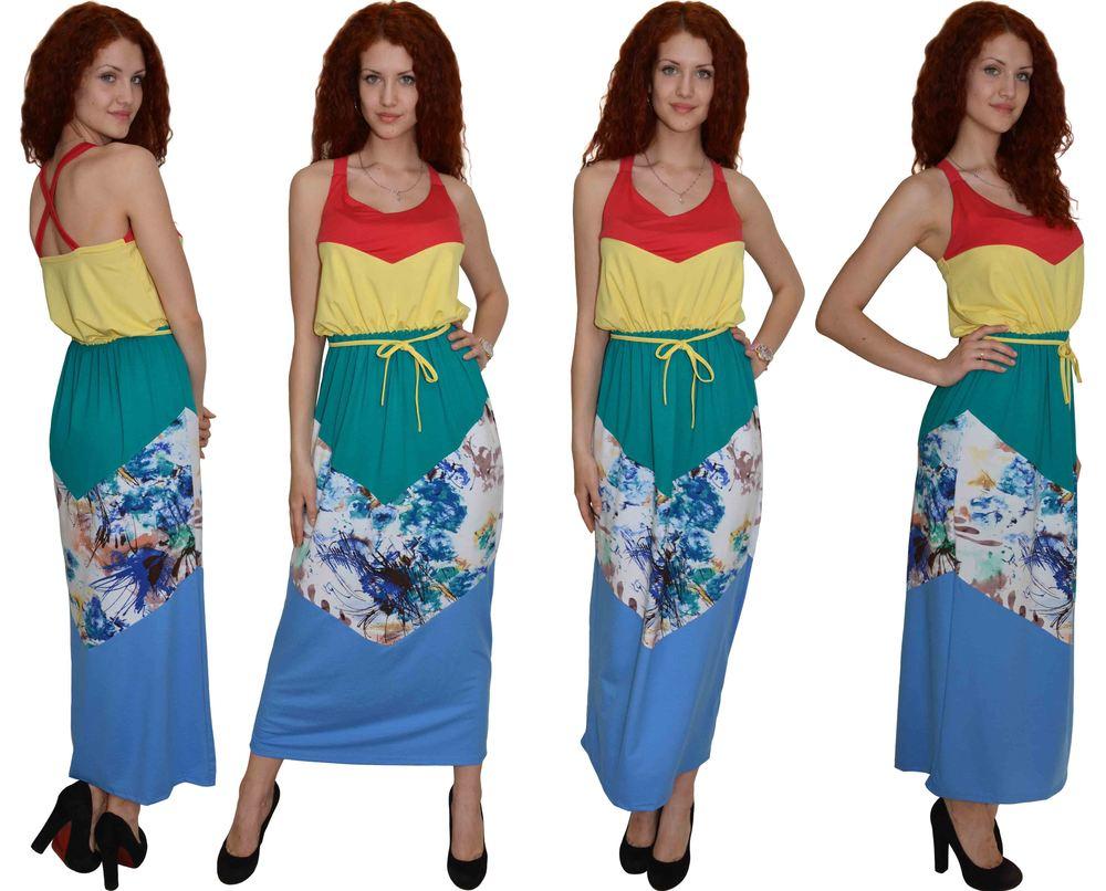 1259 Платье Ярко-коралловый