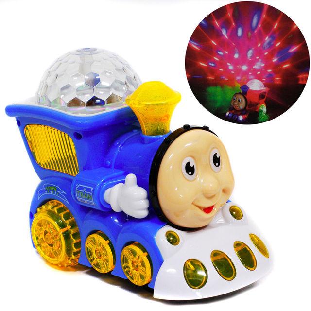 Игрушка паровозик-проектор Light train YJ388-4-1