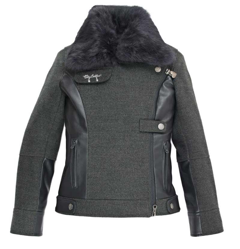 Куртка весна-осень с натуральным мехом