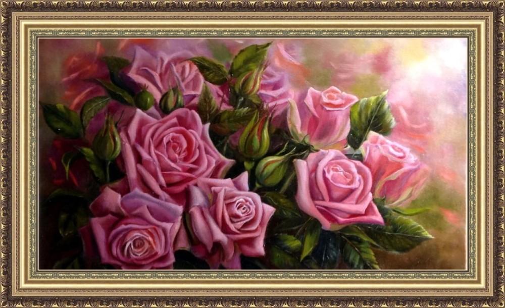 Алмазная вышивка- Цветы