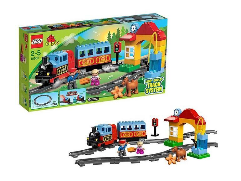Lego duplo поезд мост