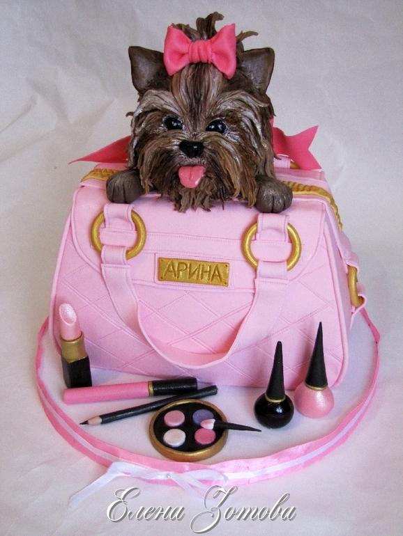 Торты сумочка с косметикой