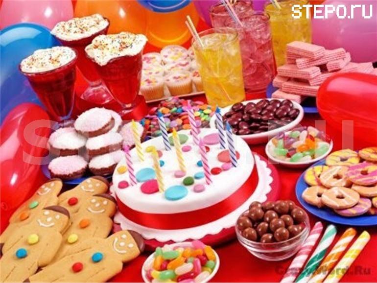 стол на детский день рождения меню с фото на