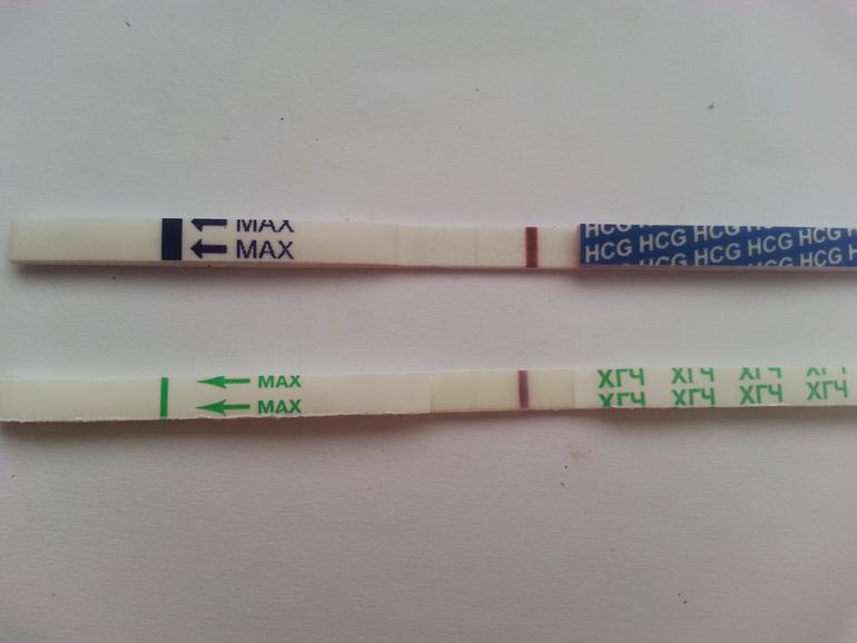 что такое реагент на тесте на беременность фото