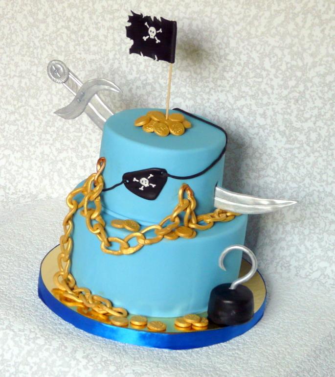 фото торта на пиратскую вечеринку