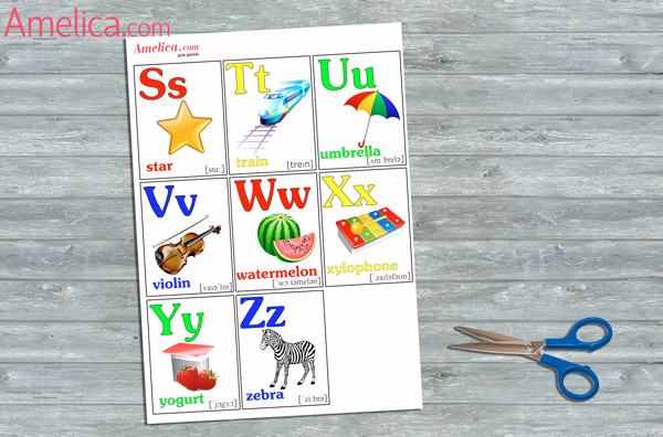 Карточки с английскими буквами свои руками