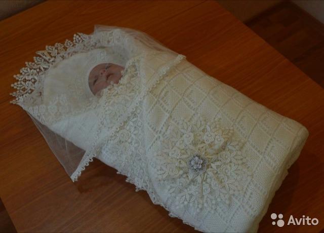 Вязаные одеяла для новорожденных на выписку