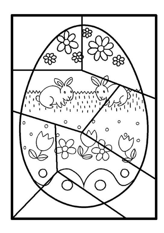 Плакат раскраска пасха