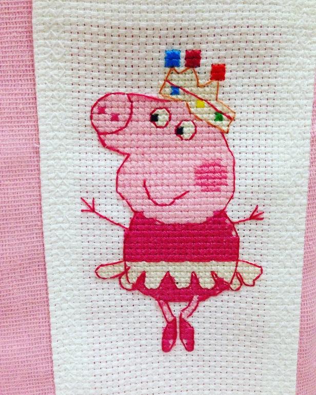 Схема вышивки крестом свинки пеппы