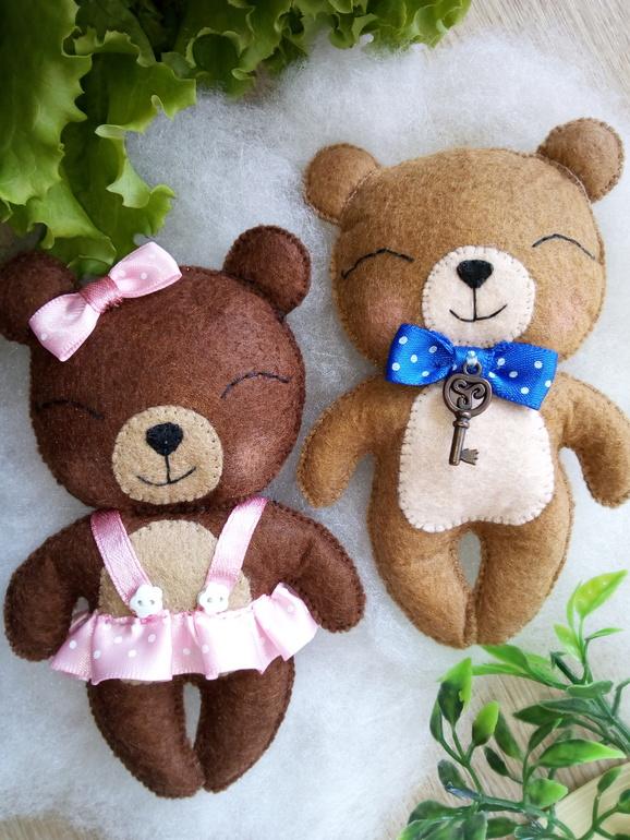 Цветами для, открытка медвежонок из фетра