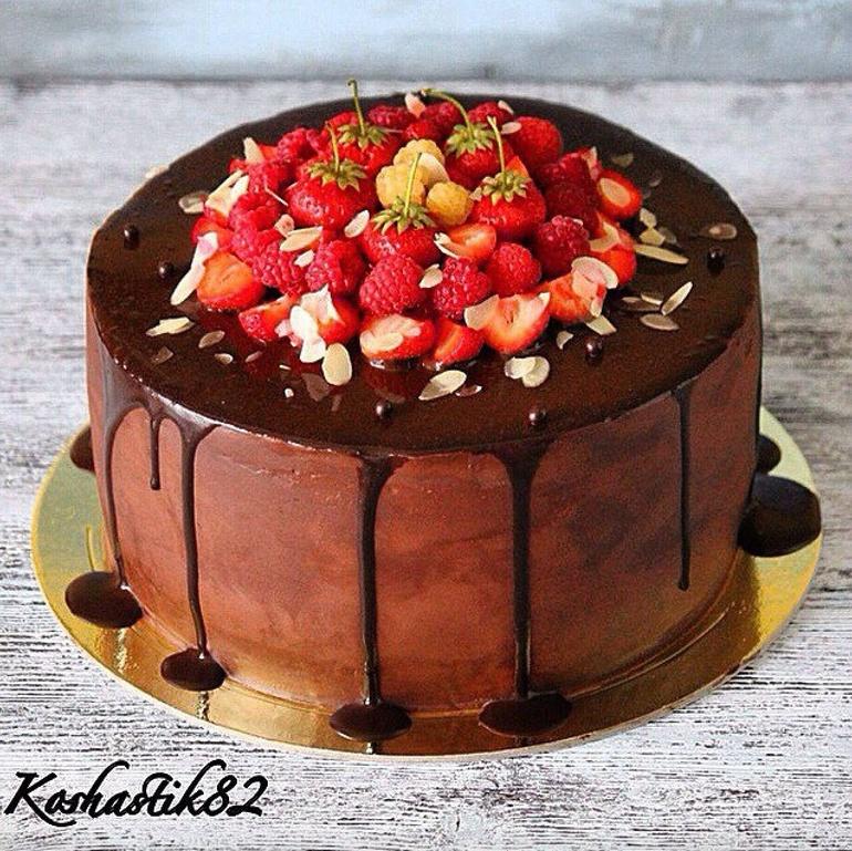 шоколадный торт с кремом ганаш рецепт с фото
