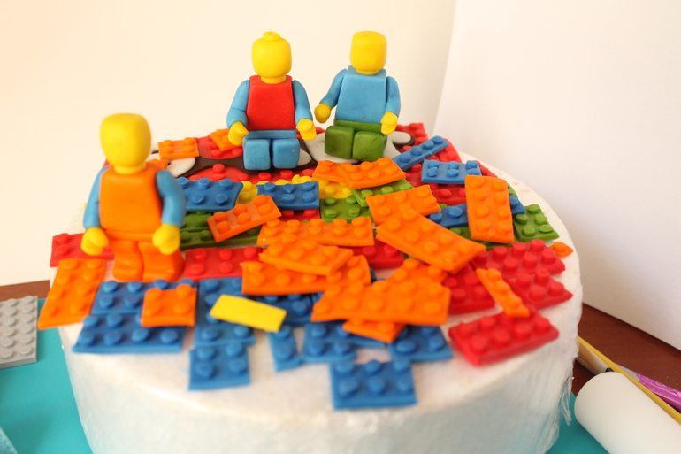 Торт лего своими руками пошагово