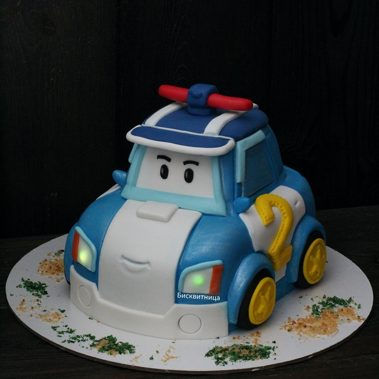 Машинка робокар поли торт фото