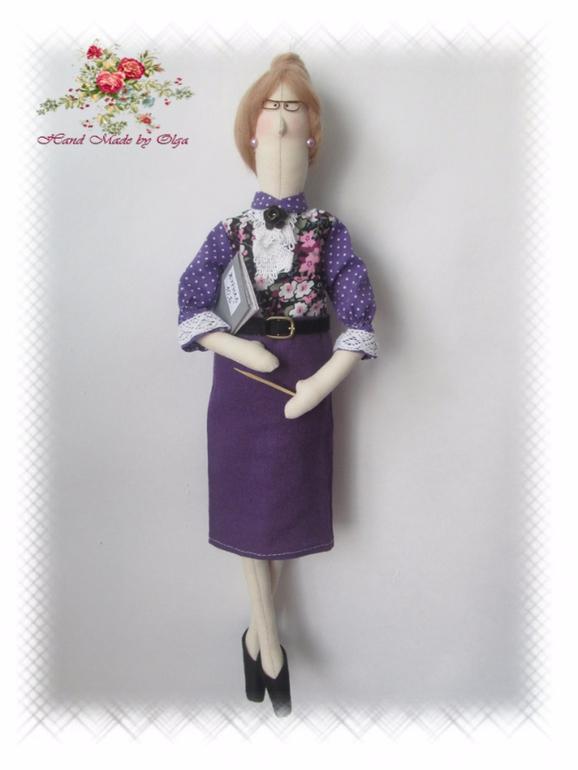 Выкройка куклы тильда учительница