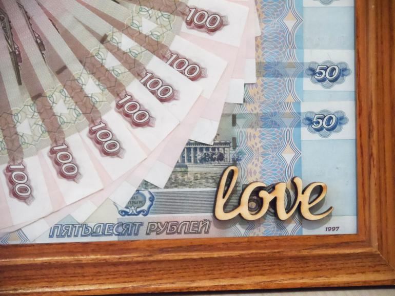 Оформление денежного подарка фото