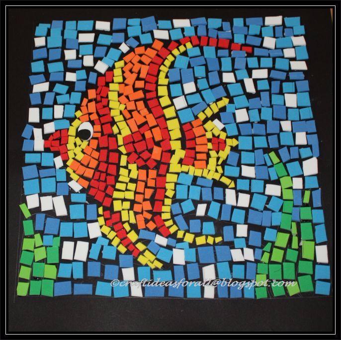 Мозаика из бумаги картинки 1 класс